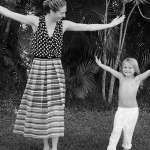Anthropologie Eva Franco Striped Tulle Skirt